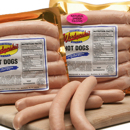 Wardynski Natural/Sheep Casing Hot Dogs